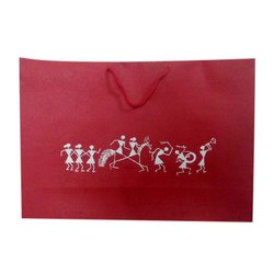 Red Printed Paper Shopping Bag