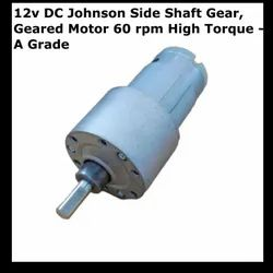 12v DC Johnson Side Shaft Gear, Geared Motor 60 rpm High Torque - A Grade
