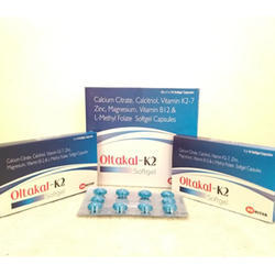 Calcium Citrate, Calcitriol, Vitamin K2-7 Zinc Capsules