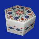 Marble Boxes With Inlay Work
