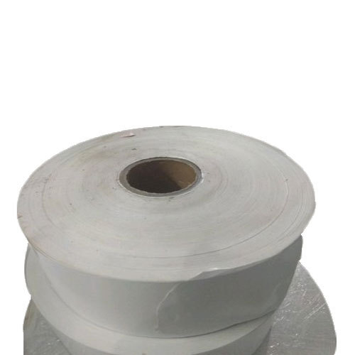 White Plain Adhesive Sticker, Packaging Type: Roll