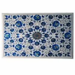 Rectangular Design Marble Inlay Table Top