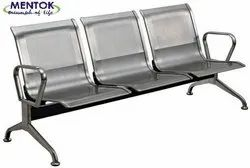 Iron Non Rotatable patient waiting chair, jaipur, Seating Capacity: 3