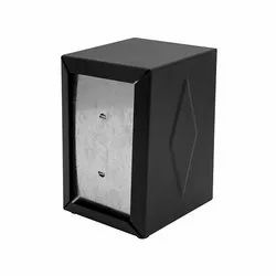 Galvanized Metal Black Napkin Dispenser