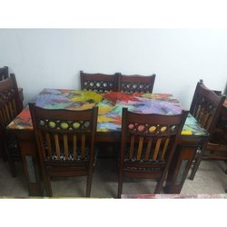 Brown Wooden Dinning Table