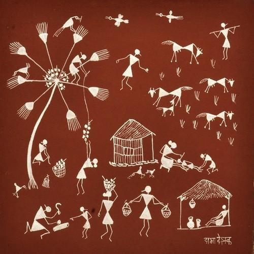 Artificial warli painting at rs 2500 piece shivaji nagar nashik artificial warli painting thecheapjerseys Image collections