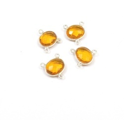 Citrine Quartz Gemstone Connector