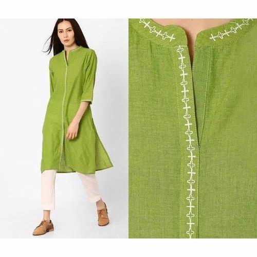 1b2ef24f3e Small & Medium Green Ladies Cotton Kurti, Rs 500 /piece ...