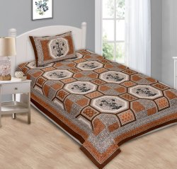 Bedsheets for Single Bed Cotton Printed