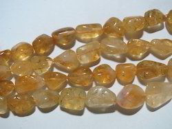 Natural Citrine Tumbled Gemstone Beads