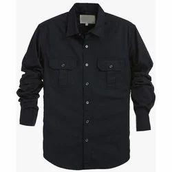 Black Mens Fancy Shirt