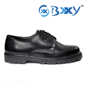 Black Kids Leather School Shoes