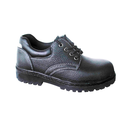 Black Leather Laboratory Safety Shoes
