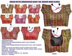 Kutchi Work Heavy Foil Mirror - Gujarati Readymade Blouse