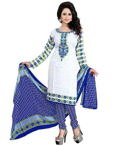 Designer Printed Unstitched Salwar Suit