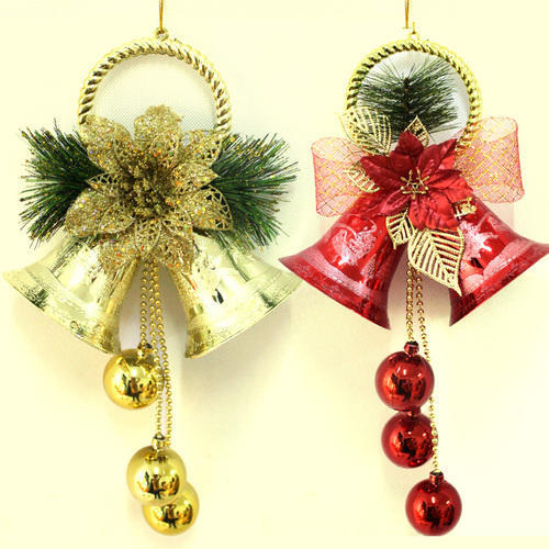 Red And Silver Christmas Decoration Jingle Bells Size Smallest Fascinating Decorative Jingle Bells