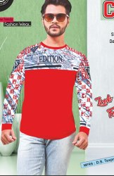 Men Stylish Full Sleeve Cotton T-shirt
