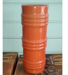 Orange Ceramic Flower Vase