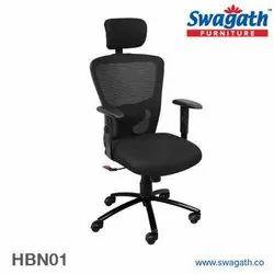 Swagath Black High Back Chairs