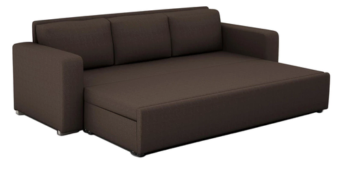 Domino 3 Seater Sofa Bed With Storage In Coffee Color