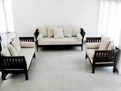 5 Seater L Shape Sofa Set, Warranty: 1 Year, 5 Inch