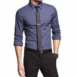 Collar Line Plain Men's Formal Shirt