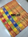 Saree: Uppada Checks Saree With Heavy Golden Zari Made Design
