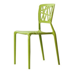 Armless Green Cafeteria Chair