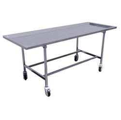 Standard Steel White Mortuary Table