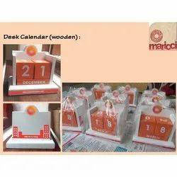 Wooden Table Calender Customized, For Promotion