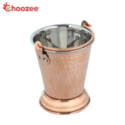 Choozee - Steel Copper Serving Bucket (800 ml)