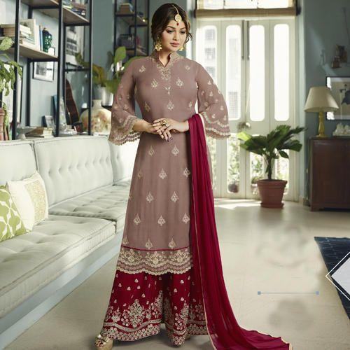 4549ba15df Georgette Beige Color Designer Semi-Stitched Sharara Suits, Rs 2198 ...