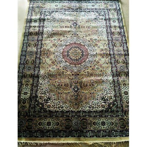 Multicolor Handmade Silk Floor Carpet