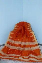 Party Wear Ladies Jamdani Silk Saree, 6.3 m (with blouse piece)