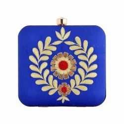 Blue Embroidery Work  Gorgeous Handmade  Design Clutch