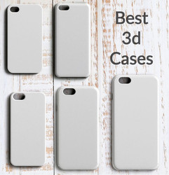 White sublimated 3d Sublimation Mobile Cover