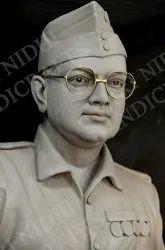 Subhash Chandra Bose Marble Statue