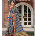 Grey Color Fancy Saree