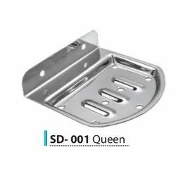 RAINYWARE Stainless Steel QUEEN SOAP DISH, Material Grade: 204, Size: 00
