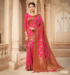 Banarasi Silk Weaving Saree with Blouse Piece