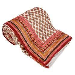 Rajasthani Golden Print Cotton Double Razai Quilt 304