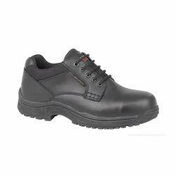Oriental Enterprises Black & Brown PU Sole Leather Safety Shoes