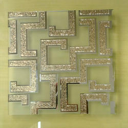 Upto 72/96 Mm Designer Pattern Glass