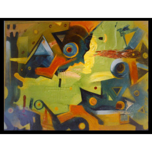 Wall Decor Abstract Painting at Rs 1000 /square feet | Abstract ...