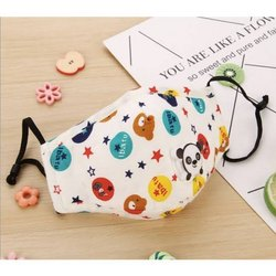 Reusable Kids Protective Face Mask, Number of Layers: 2 Layers