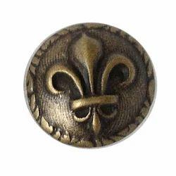 Golden Brass Button