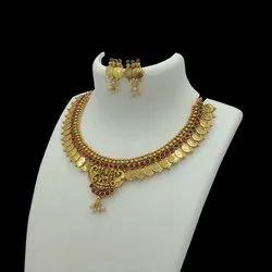 Karishma Kreations Laxmi Temple Jewellery Set Collection - KA Coin 4000
