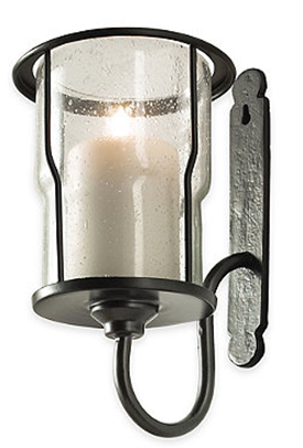 Candle Metal Glass Sconce