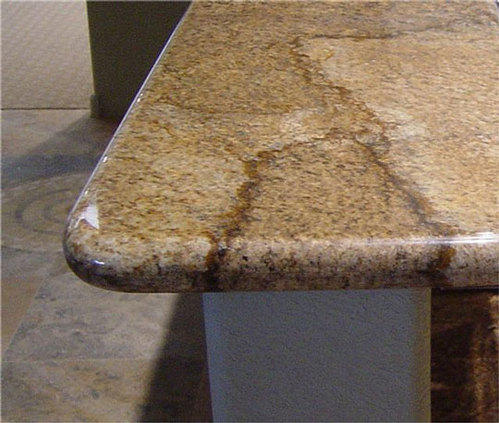 Full Bullnosed Counter Granite