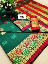 Designer Pure Cotton Silk Saree With Latest Pallu